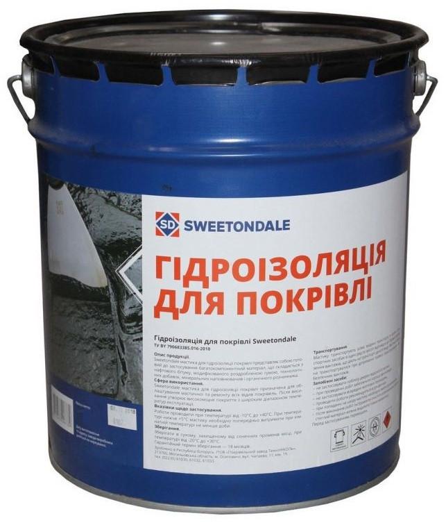 Битумная мастика для гидроизоляция кровли Sweetondale, 9кг