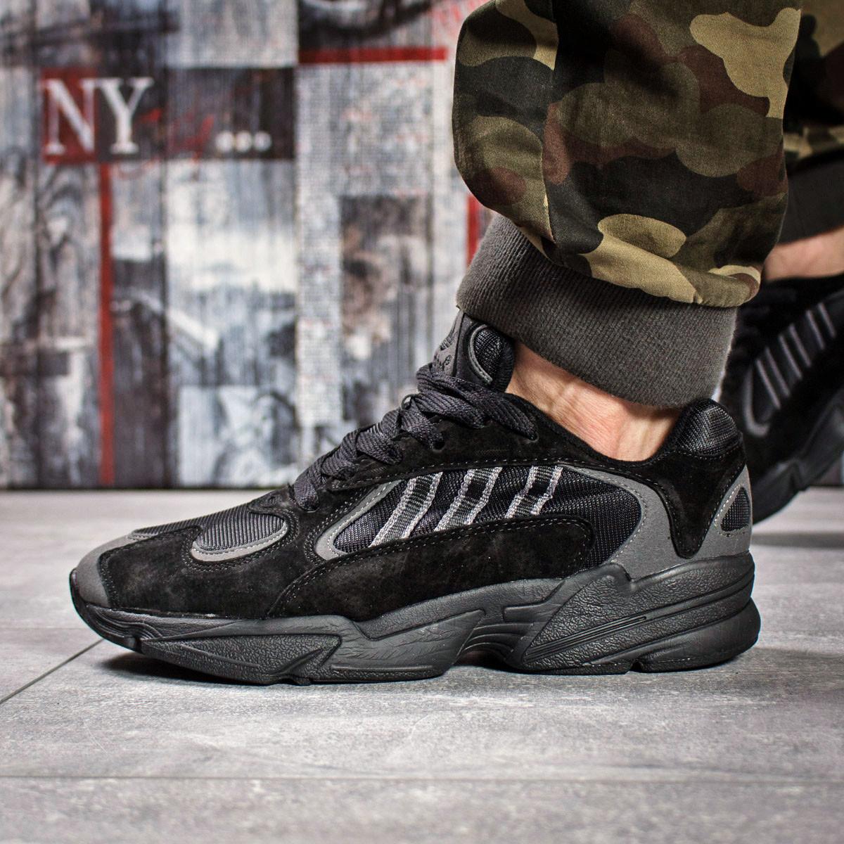Кроссовки мужские 15931, Adidas Yung 1, черные, < 43 > р. 43-27,5см.