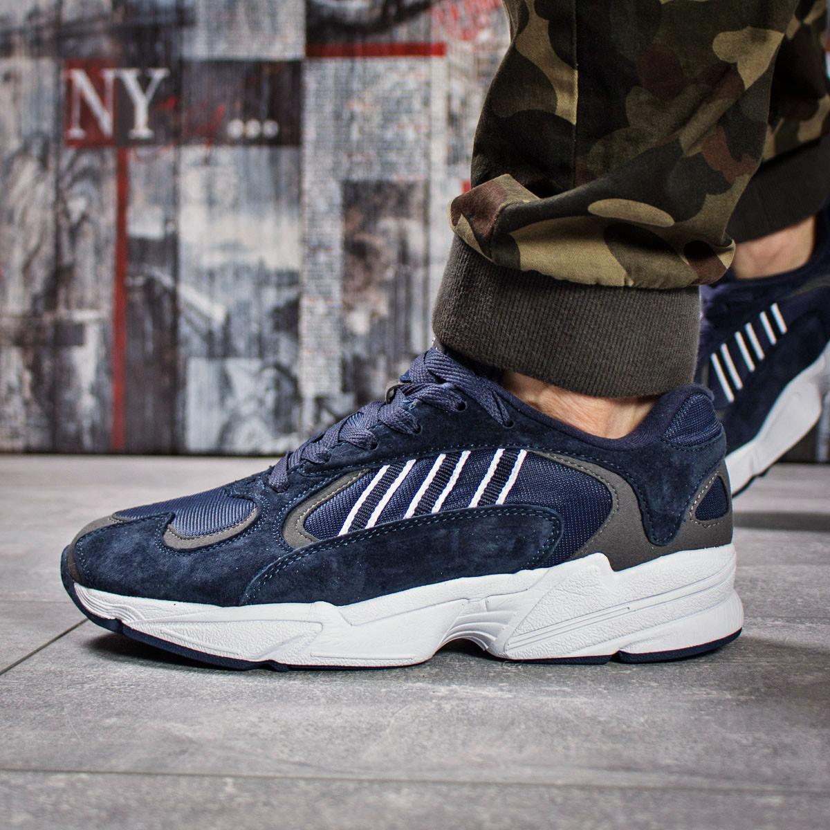 Кроссовки мужские 15933, Adidas Yung 1, темно-синие, < 45 46 > р. 45-29,5см.