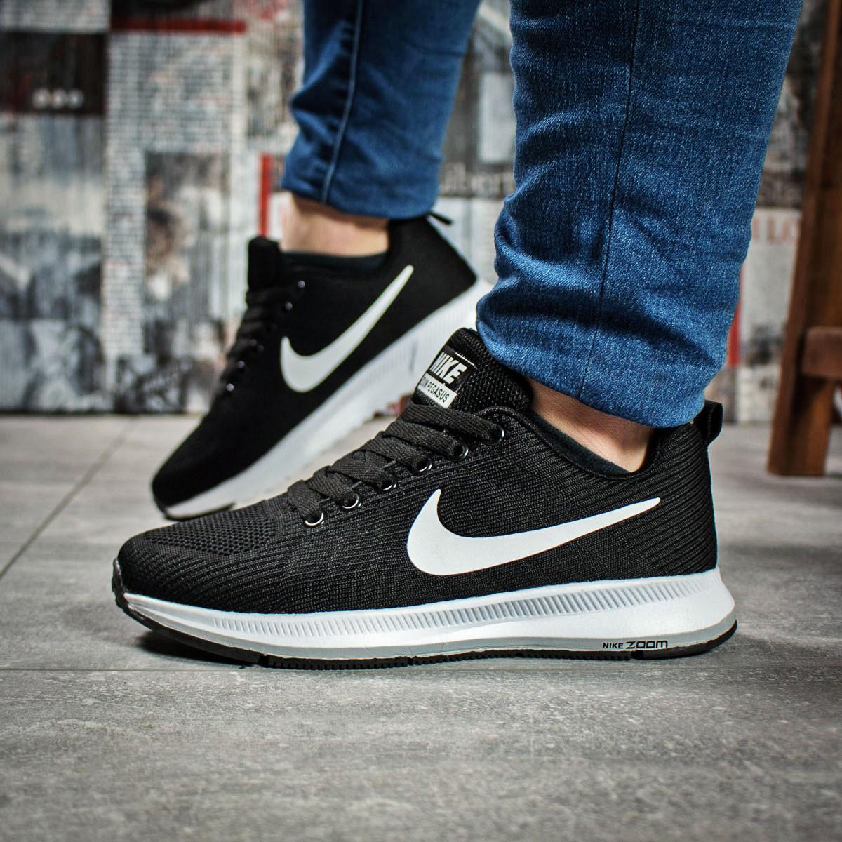Кроссовки женские 16021, Nike Zoom Pegasus, черные, < 37 38 > р.37-23,5