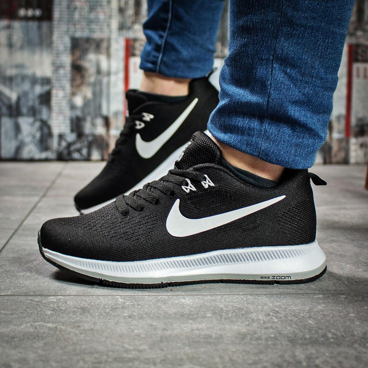 Кроссовки женские 16031, Nike Zoom Pegasus, черные, < 37 38 > р.37-23,0