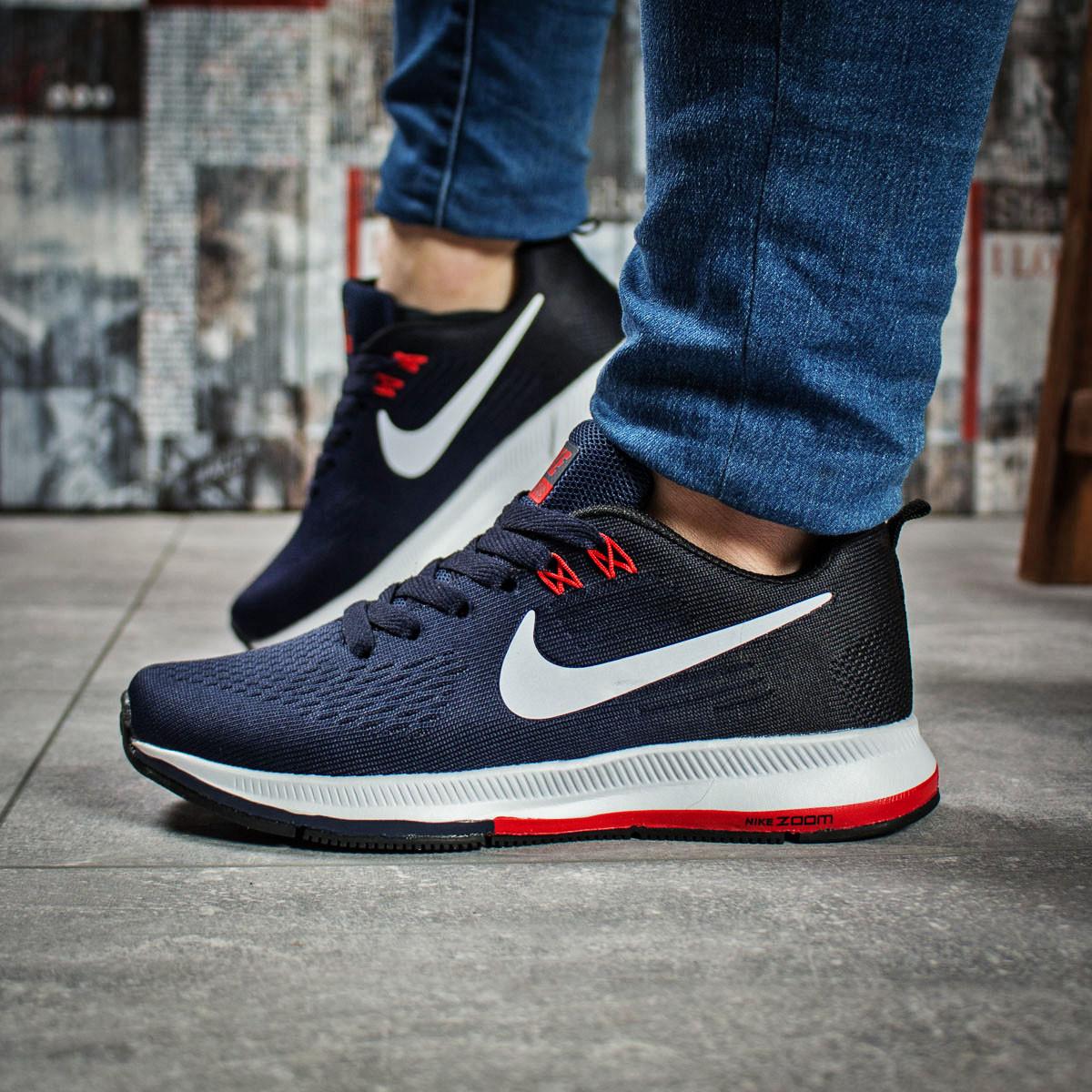 Кроссовки женские 16033, Nike Zoom Pegasus, темно-синие, < 37 39 > р.37-23,0