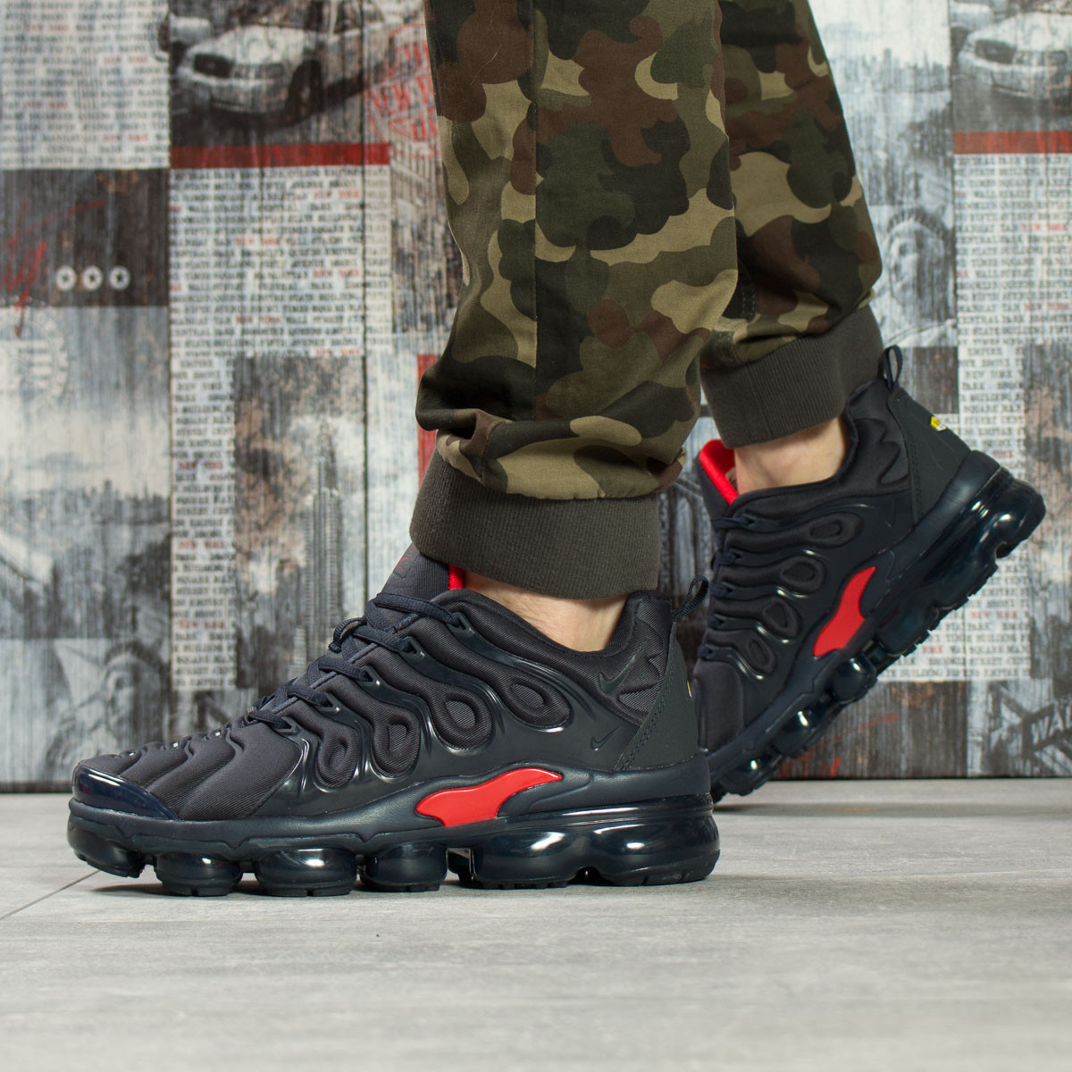 Кроссовки мужские 16043, Nike Vm Air, темно-синие, < 41 43 45 46 > р.41-26,0