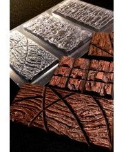 Пластиковая форма для шоколада Плитка № 2 , 3 вида
