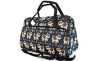 Жіночий саквояж, сумка с малюнками 806 (50 см)