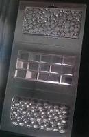 Пластиковая форма для шоколада Плитка № 3 , 3 вида