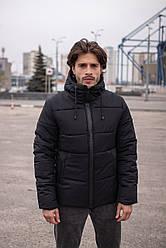 """Куртка мужская короткая зимняя Intruder  """"Glacier"""" черная в размере S M L XL XXL"""