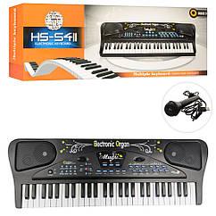 Синтезатор HS5411 54 клавіші, мікрофон,USB зарядне,МР3,на бат-ке