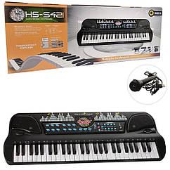 Синтезатор HS5421 54 клавіші, мікрофон, USB зарядне,МР3,на бат-ке