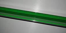 Б/у Ценникодержатель стеллажный HL Display DBR зеленый с клеевой основой, держатели для ценников 1315*58мм, фото 3