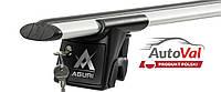 Багажник на рейлинги Aguri Runner II R1 (серебристый) Skoda Octavia II FL Combi (2008-2013)