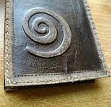 Кожаная обложка под скетчбук ручной работы подарок, фото 3