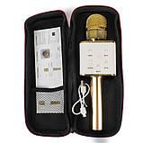 Микрофон караоке Tuxun беспроводной bluetooth золотой Q7 MS SKL11-130336, фото 4