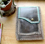 Кожаная обложка под скетчбук ручной работы подарок, фото 5