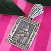 Серебряный кулон Серафим Саровский - Серебряная иконка ладанка Святой Серафим, фото 2