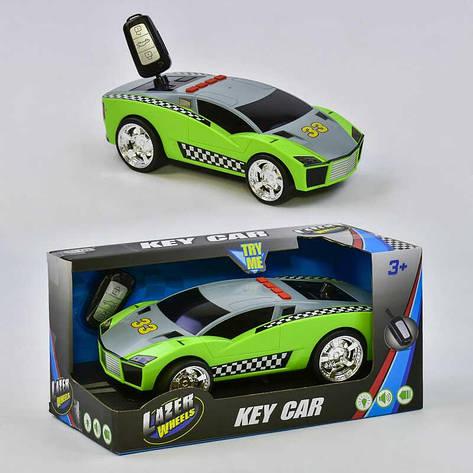 Машина музыкальная LD 2032 (12/2) ключ зажигания, свет, звук, инерция, в коробке, фото 2