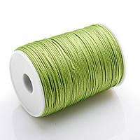 Фурнитура Нить Шамбала светло-зелёная бобина