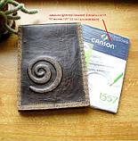Кожаная обложка под скетчбук ручной работы подарок, фото 2