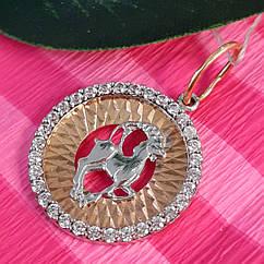 Золотой кулон знак зодиака Козерог