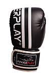 Боксерські рукавиці PowerPlay 3010 Чорно-Білі 12 унцій SKL24-144000, фото 3