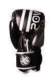 Боксерські рукавиці PowerPlay 3010 Чорно-Білі 12 унцій SKL24-144000, фото 4