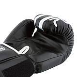 Боксерські рукавиці PowerPlay 3010 Чорно-Білі 12 унцій SKL24-144000, фото 6