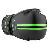 Боксерські рукавиці PowerPlay 3016 Чорно-Зелені 8 унцій SKL24-143712, фото 5
