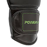 Боксерські рукавиці PowerPlay 3016 Чорно-Зелені 8 унцій SKL24-143712, фото 10