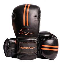 Боксерські рукавиці PowerPlay 3016 Чорно-Оранжеві 14 унцій SKL24-144014