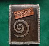 Обложка блокнота скетчбука ежедневника винтажная кожа ручная работа формат а5, фото 5