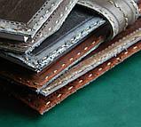 Обложка блокнота скетчбука ежедневника винтажная кожа ручная работа формат а5, фото 7