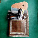 Обложка блокнота скетчбука ежедневника винтажная кожа ручная работа формат а5, фото 8