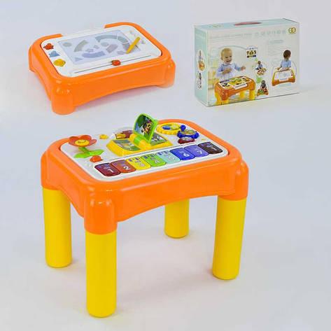 Музыкальный центр 6955 А (8/2) музыкальные и световые эффекты, доска для рисования, столик для песка, в коробке, фото 2