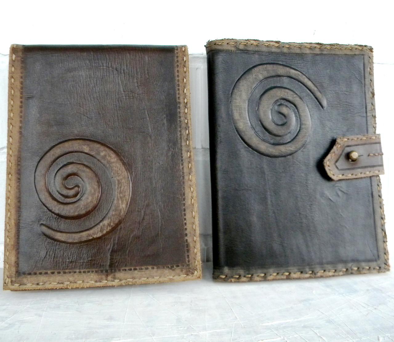 Обложка блокнота скетчбука ежедневника винтажная кожа ручная работа формат а5