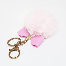 Брелок меховой Бантик (искусственый) pink