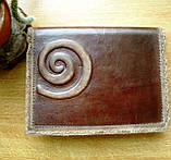 Обложка блокнота скетчбука ежедневника винтажная кожа ручная работа формат а5, фото 6