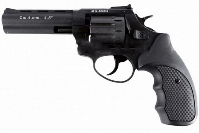 """Револьвер под патрон Флобера Stalker (4.5"""", 4.0mm), ворон-черный"""