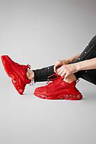 """Кроссовки Balenciaga Triple S """"Красные"""", фото 2"""