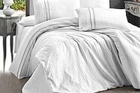 Постельное белье двуспальное евро FIRST CHOICE Stripe Style Beyaz