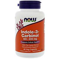 Now Foods, индол-3-карбинол, 60 капс. по 200 мг, indole-3 carbinol