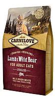 Сухой корм Carnilove Cat Lamb & Wild Boar Sterilised 2кг