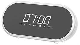 Аудіо настільний годинник Baseus Encok E09 Wireless Speaker White (NGE09-02)