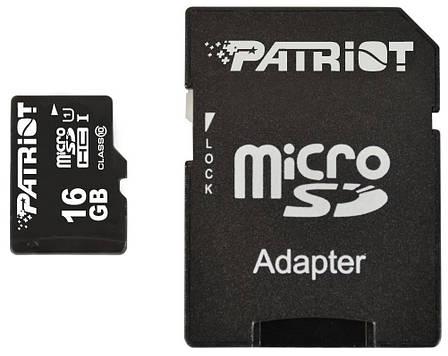 Карта памяти Patriot LX Series microSDHC 16GB Class10 (PSF16GMCSDHC10), фото 2