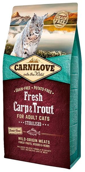 Сухой корм Carnilove Cat Fresh Carp & Trout Sterilised 2кг