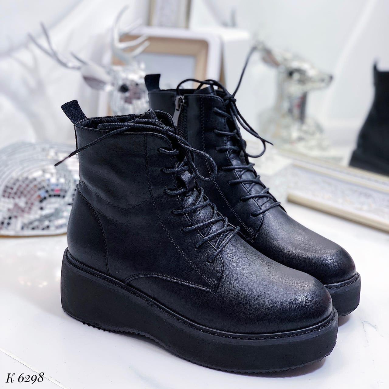 39 р. Ботинки женские деми черные кожаные на низком ходу, демисезонные, из натуральной кожи,натуральная кожа