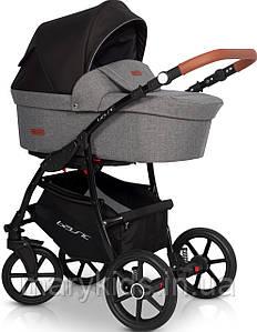 Детская универсальная коляска 3 в 1 Riko Basic 01 Antracite