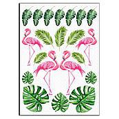 Фламінго-тропіки вафельна картинка