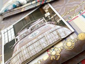 Постельное белье, комплект Евро размер хлопок сатин жаккард , реплика Gucci