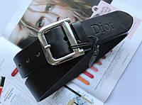 Женский ремень Dior пряжка серебро черный