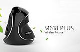 Вертикальная беспроводная мышь Delux M618 Plus, фото 2
